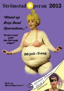 Vykort Fat Lady